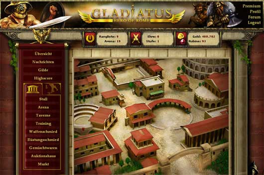 GLADIATUS and DARK PIRATES (Browser games)