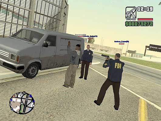 SA-MP is a multiplayer mod for the PC version of Rockstar's GTA: San Andreas