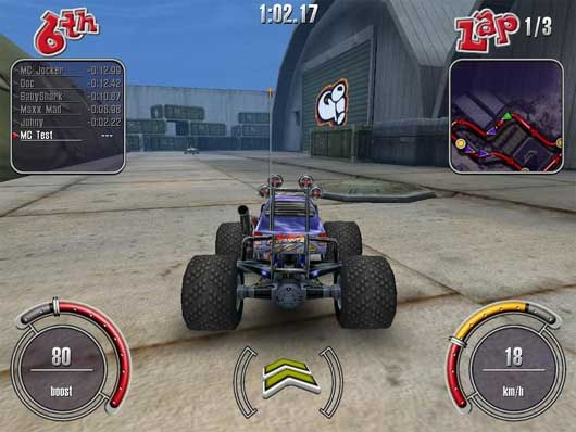 Download free small games: big scale racing *demo*.