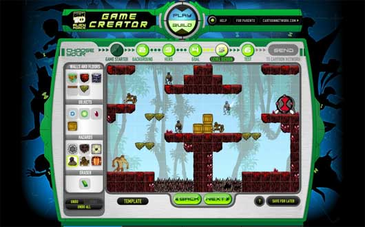 the ben 10 alien force game creator is a free games site that lets you