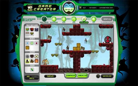 online force games alien ben 10