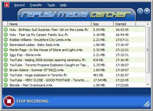 Replay Media Catcher (shareware)