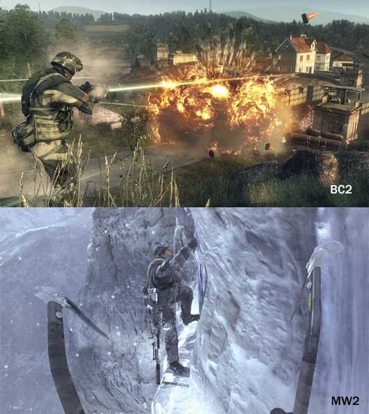 Call of Duty vs Bad Company