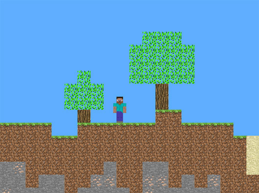 Minecraft 2d is an open source tribute to minecraft if you like it