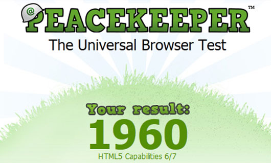 PeaceKeeper Test your Browser with HTML5