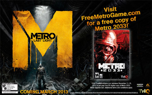 Get a copy of Metro 2033 for Free!