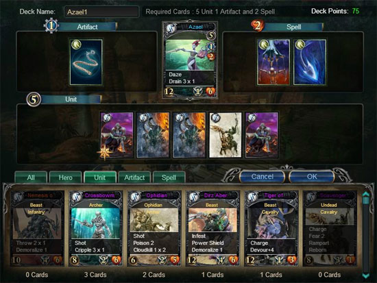 CONFRONTATION WEB CARDGAME