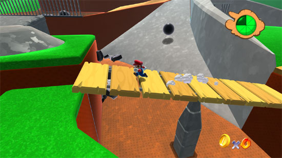 Super Mario 64 HD (the first level)