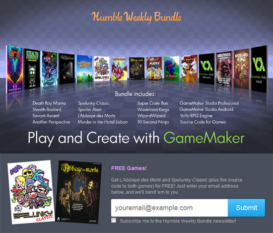 Humble Weekly Bundle Gamemaker