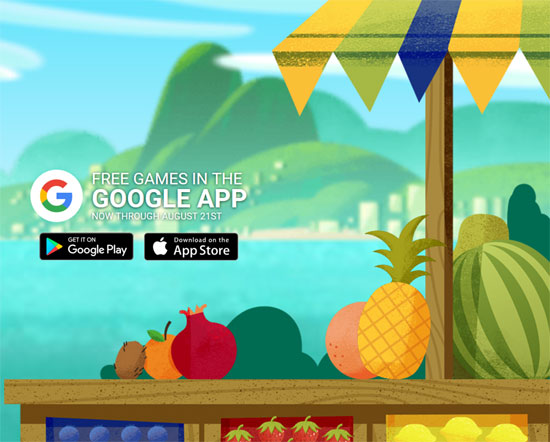 Summer Games 2016 – Google Fruit (mobile)