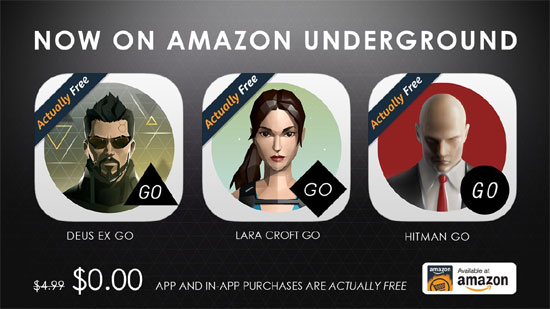 Amazon UnderGround offers free mobile games