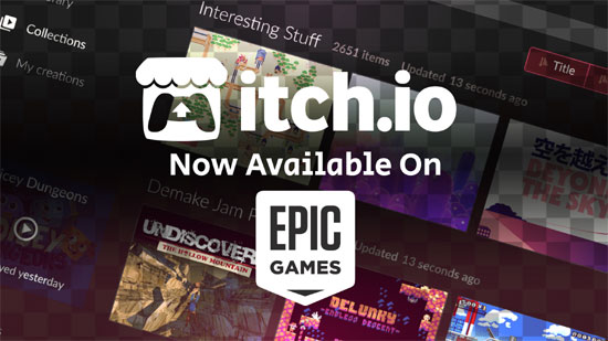 The itch desktop client is now available on the Epic Games Store!